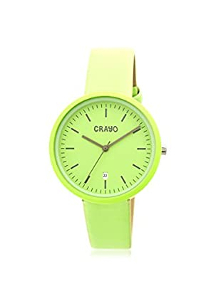 Crayo Women's CRACR2406 Easy Lime Leather Watch