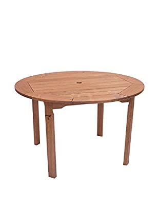 Amazonia Milano Eucalyptus Round Table, Brown