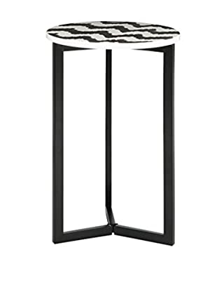 Safavieh Zaira End Table, Black/White
