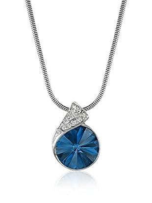 Absolute Crystals Set Kette und Anhänger Capped Rivoli blau
