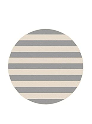 Universal Rugs Garden City Indoor/Outdoor Transitional Rug, Gray, 8' Round
