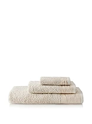 Nine Space Pleated 3-Piece Towel Set, Ivory