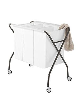 Whitmor Laundry Sorter, Espresso/White