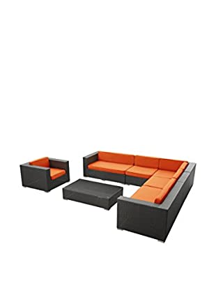 Modway Palm 7-Piece Outdoor Patio Sectional Set
