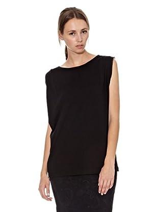 Mango Camiseta Oriol (Negro)