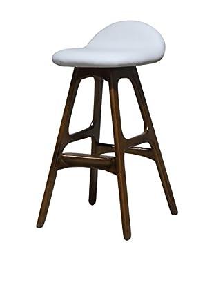 International Designs USA Bold Bar Stool, White