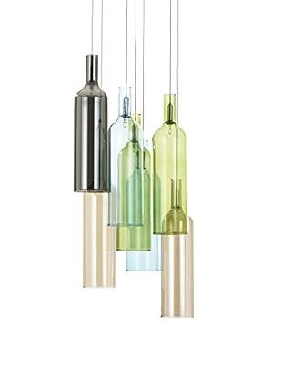 Contemporary Living Lámpara De Suspensión Bottles Multicolor