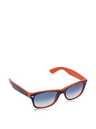 Ray-Ban Occhiali da sole New Wayfarer 2132 7893F (52 mm) Blu/Arancione 52-18-145