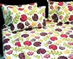 Bold Beauty Double Bedsheet with Four Pillow Covers
