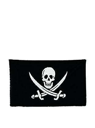 Seletti Jolly Roger Cotton Flag, Black/White