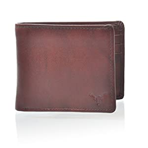Classic Brown Leather Material Wallet for Men by Hidemaxx