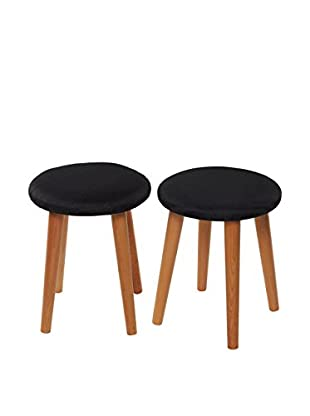 Chic Orange Set Taburete 2 Uds. Stool Talla 4 14/16