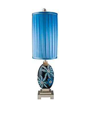 ORE International Aqua Demeter 1-Light Table Lamp, Blue