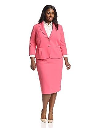 Tahari by ASL Plus Women's Crepe Skirt Suit