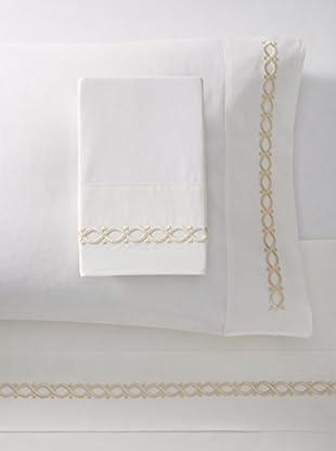 Dea Eliza Embroidery Sheet Set (Ivory/Beige)