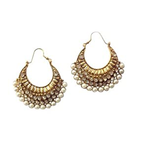 Ethnic pearl polki earring by adiva ansatocoo46