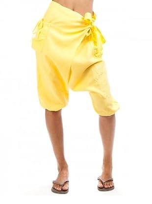 Desigual Pantalón Tucanes (Amarillo)