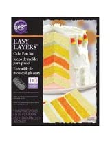 Wilton 2105-4630 Easy Layers Cake Pan Set