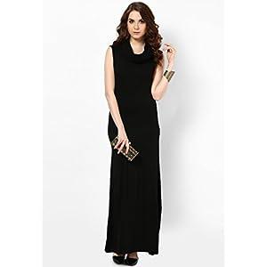 Alia Bhatt for Jabong Cowl Neck and Hood Dress - Black