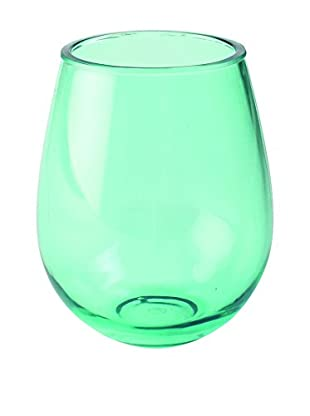 Firenze Acrylic Stemless Double Old Fashioned Glass, Green