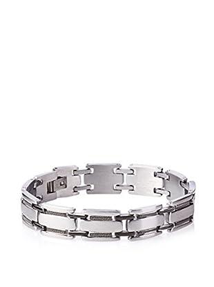 STEELTIME Greek Key Stainless Steel Bracelet