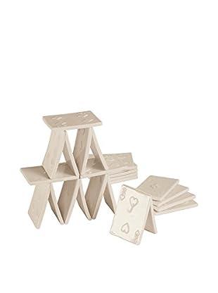 Seletti Memorabilia 18-Piece Porcelain House of Cards, White