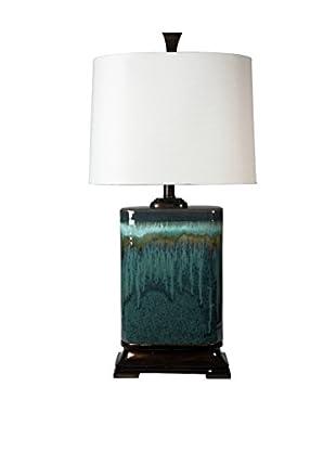 StyleCraft Carolina Ceramic 1-Light Table Lamp, Multi/White