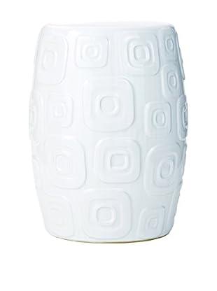 Torre & Tagus Retro Porcelain Stool, White