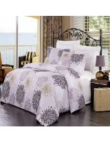 King 3PC Fifi Embroidered Microfiber Duvet cover Set. Incudes one duvet cover and two pillow shams, 100 brushed microfiber.