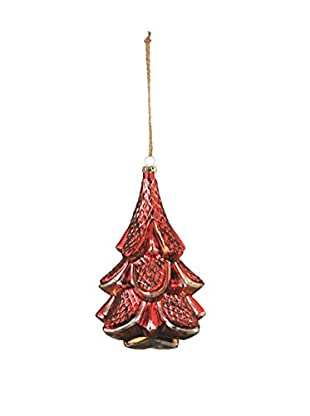 Napa Home & Garden Glass Tree Ornament, Antique Red