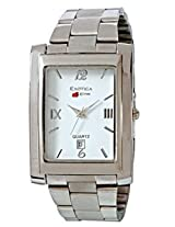 Exotica Analog White Dial Men's Watch (EXD-64 W)