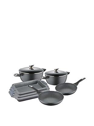 Blaumann Set Batería de cocina 9 Piezas Antiadherente de Granito Grey Granit Line Negro