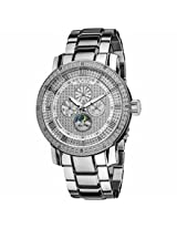 Akribos Xxiv Grandiose Diamond Multi-Function Steel Stainless Steel Mens Watch Ak613Ss