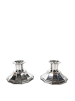 Pair of Silver-Plate Cohr Candleholders