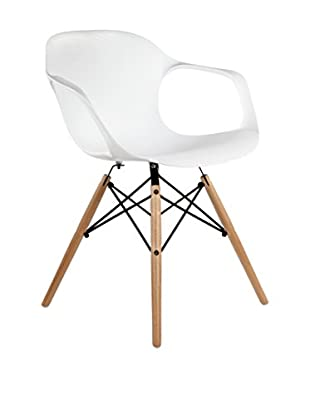 Control Brand The Stuby Arm Chair, White, 29.5Hx20.88Wx22.83L