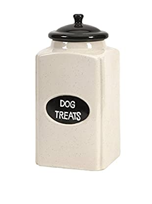 Large Dog Canister with Metal Plaque