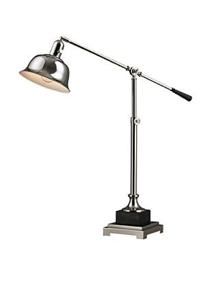 Artistic Lighting Freemanburg Table Lamp, Polished Nickel/Black