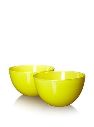 10 Strawberry Street Set of 2 Love Serving Bowls, Banana, 8.25