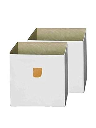 phoenix home Set, 2-tlg. Aufbewahrungsbox weiß
