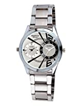 Exotica Analog White Dial Men's Watch (EX-97-Dual-W)
