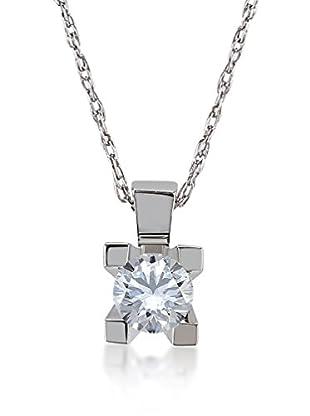 Divas Diamond Set catenina e pendente Gold Solitaire Diamond