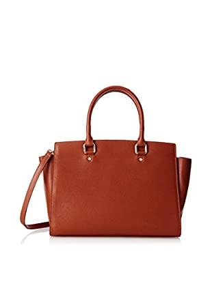 Merci Marie Women's Dana Trapazoid Shape Two-Handle Tote, Orange