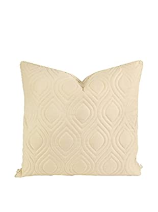 IK Kavita Linen Quilted Pillow, Beige