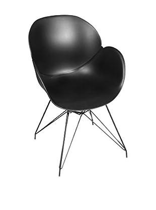 Glam Home Stuhl 2er Set Malaga schwarz