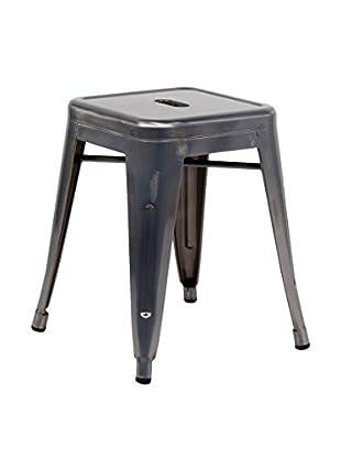 Lo+Demoda Hocker 2er Set Ural metal dunkelgrau