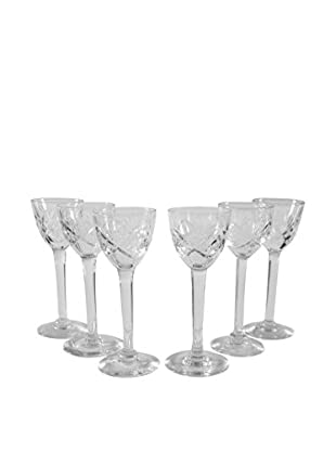Set of 6 Long Stemmed Sherry Glasses, Clear