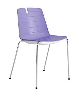 CONTRAST Stuhl 2er Set Mindy flieder/weiß