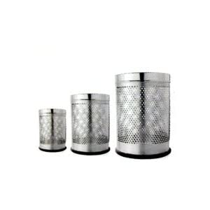 Ayushi Stainless Steel Perforated Bin - Small (Dustbin)