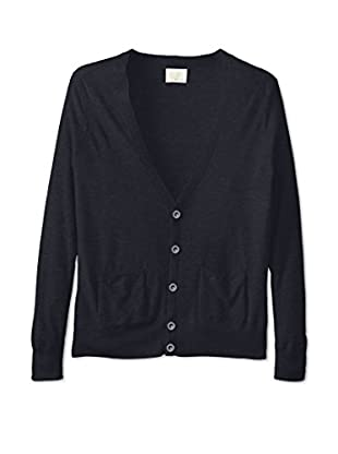 Band of Outsiders Men's Silk Cashmere Cardigan (Midnight)