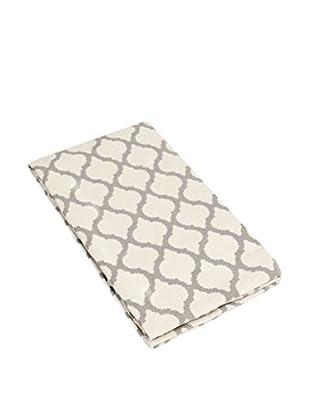 Glam Home Teppich Saman weiß/taupe